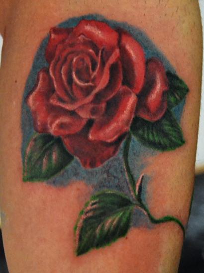Tattoo Rosa Realistica