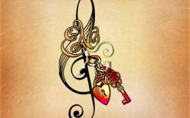 Immagini chiavi di violino per tatuaggi