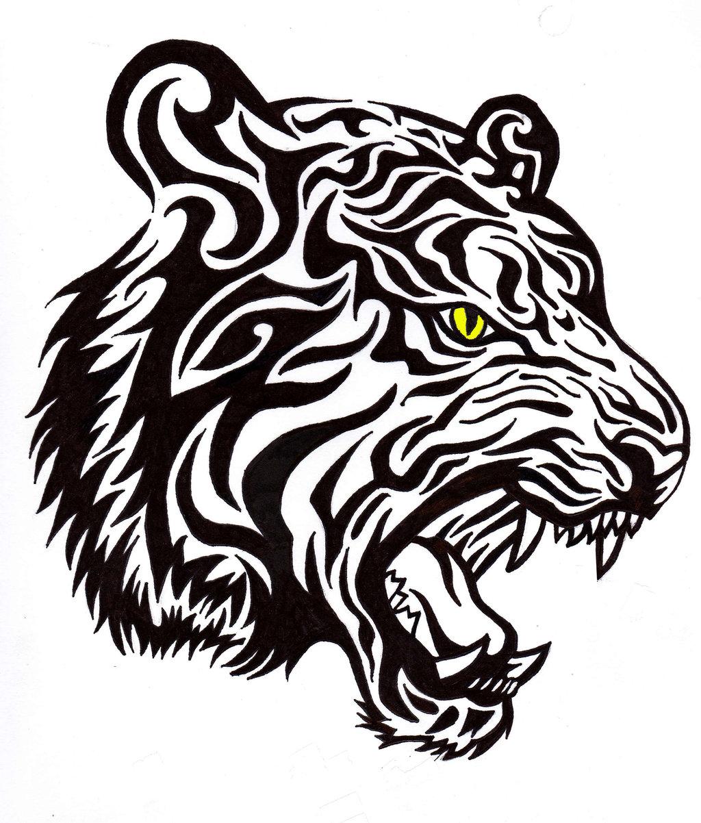 Tatuaggi Tigre Tribale