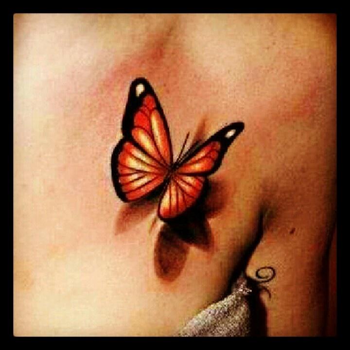 Tatuaggi 3D farfalle, bellezza, grazia e passione