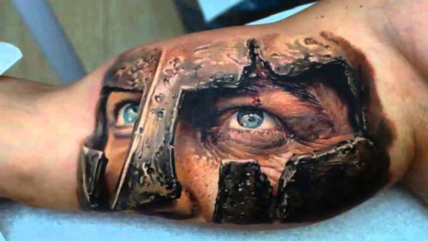 Tatuaggi in 3D, foto di un'opera d'arte